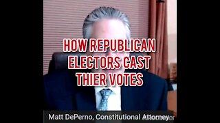 HOW REPUBLICAN ELECTORS CAST THEIR VOTES!