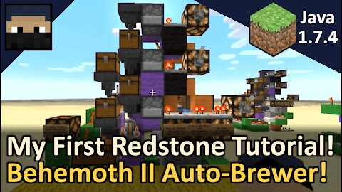 Automatic Brewing Station, the Behemoth II, with Redstone Tutorial! Minecraft Java 1.7.4