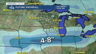 Chance of light snow Thursday night