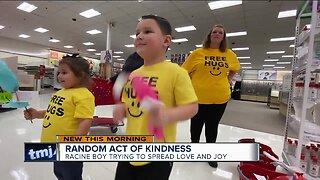 Racine boy spreads joy through random acts of kindness