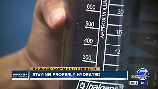 Boulder Community Health discusses how to stay properly hydrated