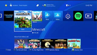 My FiRST Time Playing Minecraft on The Playstation 4