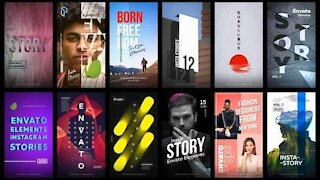 12 Instagram Stories free after effect template | Download Envato Element Templates for Free