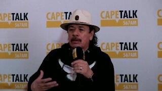 MEDIA - Carlos Santana media briefing (8FQ)