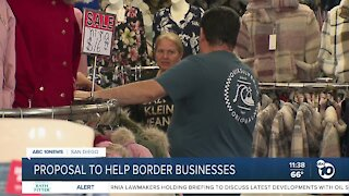 San Diego Supervisor to proposal plan to aid border businessses