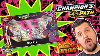 Champion's Path Marnie Premium Collection | Charizard Hunting | Pokemon Cards Opening