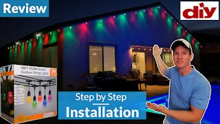 How To Install Outdoor Smart String Lights XMCOSY+ RGBW String Lights