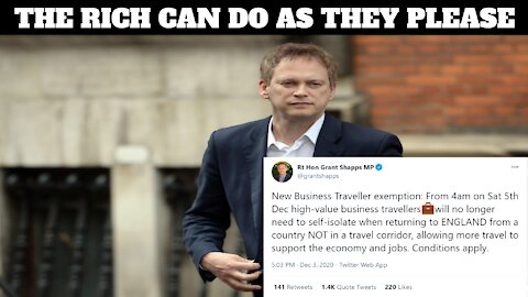 Grant Shapps... Rules For Thee But Not For Me