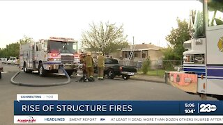 Rise of structure fires in Kern County