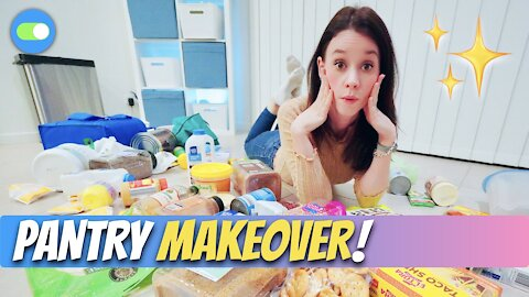 SMALL PANTRY MAKEOVER | Minimalist Makeover ✨