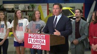 Florida Gov. Ron DeSantis holds news conference in Lakeland