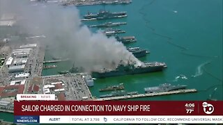 Sailor charged in connection with Navy ship fire
