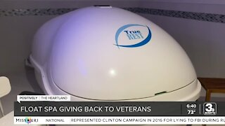 Float spa giving back to veterans, active military