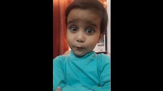 """Funny and cute kid """"I love you"""""""