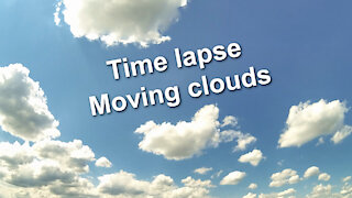 Time lapse - Blue sky with moving clouds - Relaxing music Night Snow by Asher Fulero