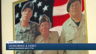 Father honoring veteran son, raising awareness about PTSD