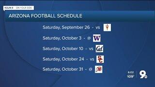 Arizona Football schedule released