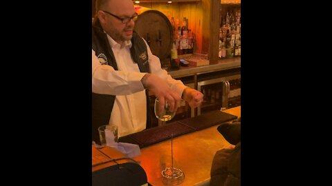 Barman Wows Staff With Magic Tricks