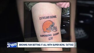 Browns superfan makes bold prediction, gets Super Bowl tattoo