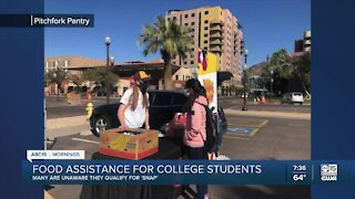 Food assistance for college students