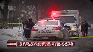 5 Detroit police officers test positive for COVID-19, 152 under quarantine