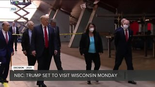 Report: Trump to visit Wisconsin on Monday to counter DNC