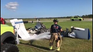 2 people injured in aircraft fire at North County Airport