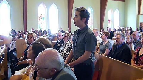 Singing Flash Mob Interrupts Church Wedding Ceremony