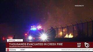 Creek Fire burning near Camp Pendleton prompts evacuations