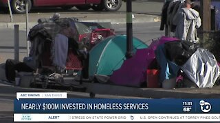 Nearly $100M invested in City of San Diego, San Diego County homeless services