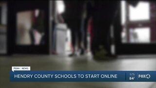 Hendry County Schools will start online