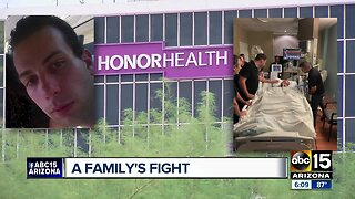 Family holds protest outside hospital, where staff says their son is legally dead