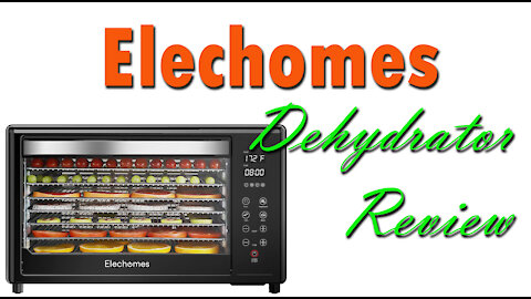Elechomes 8 Tray Commercial Dehydrator Review ~ Tons of Space