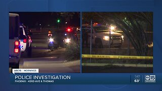 Police investigation near 43rd Avenue and Thomas Road