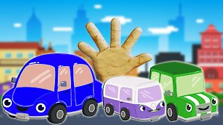 Funny Cars Finger Family Song Daddy Finger Learn Colors Cookie Tv Video