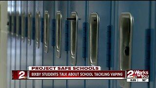 Bixby students talk about school tackling vaping