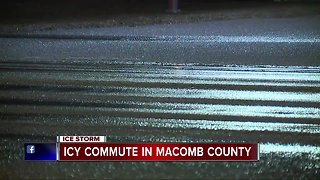 Icy commute in Macomb County
