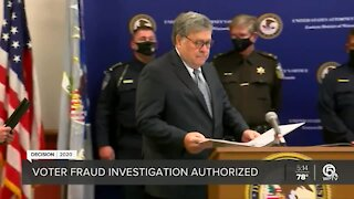 Barr OKs election probes despite little evidence of fraud