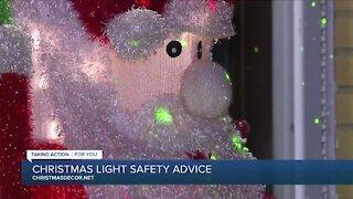 Christmas Lights Safety Advice with Christmas Decor