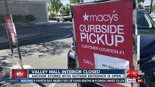 Valley Mall Interior Closed but stores with outside entrance is open