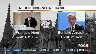 French billionaires pledge millions to rebuild Notre Dame