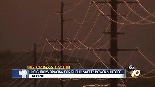 Alpine residents brace for Public Safety Power Shutoff