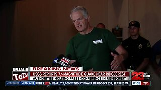 Authorities Hold Press Conference in Ridgecrest (12:20 AM)