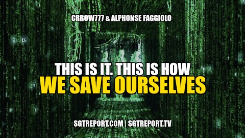 THIS IS IT! **THIS** IS HOW WE SAVE OURSELVES - Crrow777 & Alphonse Faggiolo