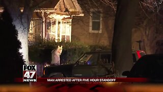 Man in custody after stand-off