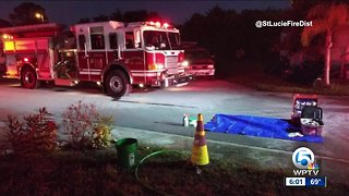 Mobile home fire extinguished near Fort Pierce