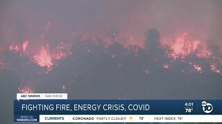 Fighting fire, energy crisis, COVID
