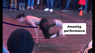 The best artist in Times Square New York really amazing performance