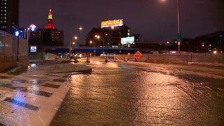 Water main break in downtown Cleveland