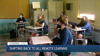 Schools in orange zone forced back into remote learning